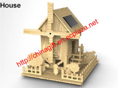 DIY Solar Wooden House