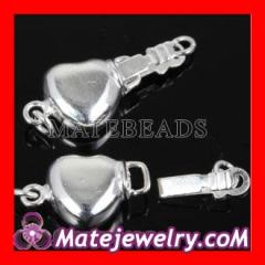 sterling silver heart clasp