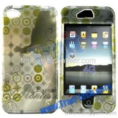 Green Series Front and Back hard Case for iPhone 4