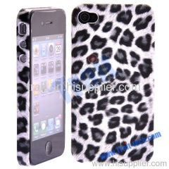 New Design Leopard Series Hard Case Cover for iPhone 4-Grey Dot