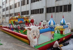 inflatable amusement park, fun city games