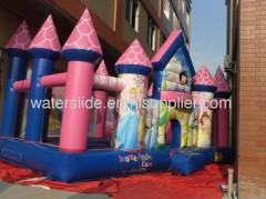 Princess bounce house girl