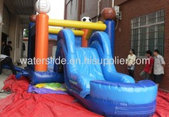 Combo outdoor water slide