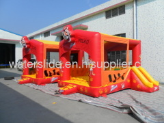 Double tiger bouncer inflatable