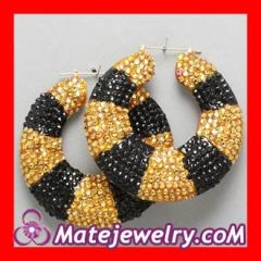 Gold bamboo earrings Wholesale