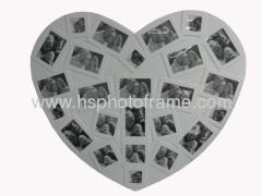 Wooden love heart photo frame