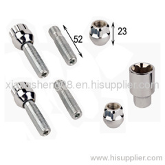 locking bolt lock with spine open nuts