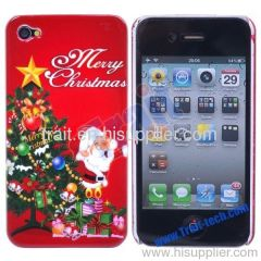 Xmas Christmas Hard Case Cover for iPhone 4