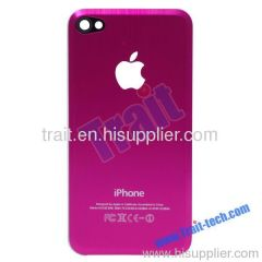 Metal Battery Back Cover Housing for iPhone 4 4G(Hot Pink)