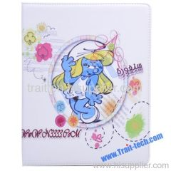Cute Cartoon Leather Cover for iPad 2 Stand