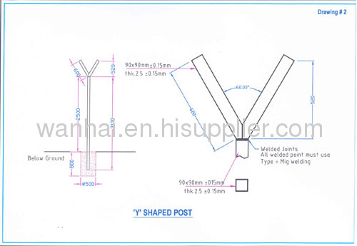 Y Type Fence Post From China Manufacturer Anping County Wanhai Metal Products Trading Co Ltd