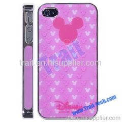 Pink Lovely Cartoon Mouse Head Hard Case for iPhone 4S/iPhone 4