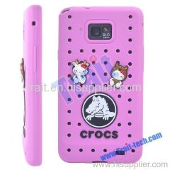 Pink Cartoon Protective Silicone Case for Samsung S2 i9100/i9108