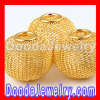 Gold Mesh Ball Beads For Basketball Wives Hoop Earrings wholesale