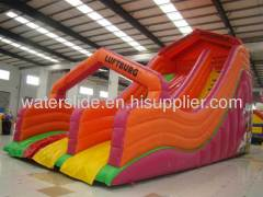 big blow up water slides