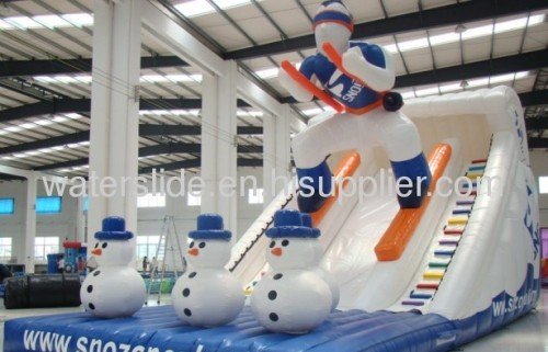 Snow ski kid wise inflatable water slides