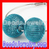 cheap Basketball Wives Blue metal Wire Mesh Balls Beads Wholesale