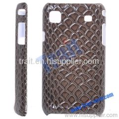 Classic Crozzling Paster Hard Plastic Case for Samsung Galaxy S i9000(Chocolate)