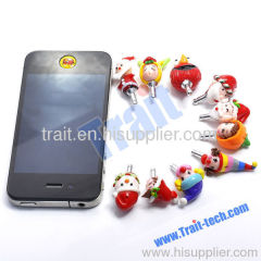 Cute Merry Christmas iPhone 4 Earphone Dustproof Plug (Snow man)