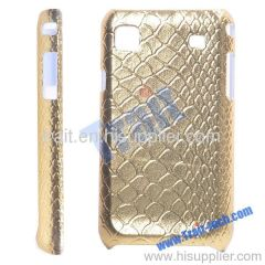 Classic Crozzling Paster Hard Plastic Case for Samsung Galaxy S i9000(Gold)