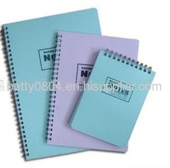 spiral binding notebook with hard cover