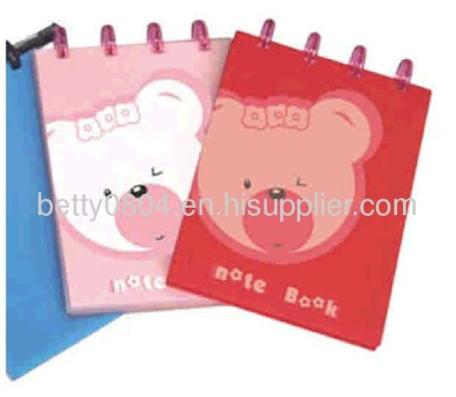 spiral and hard cover notebook