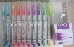 gel ink pen with plastic cover