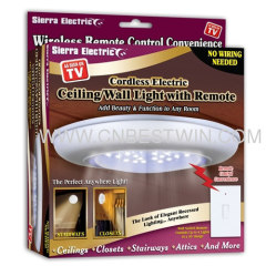 cordless electronic celling wall light with remote