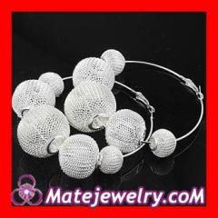 Basketball wives mesh hoop earrings