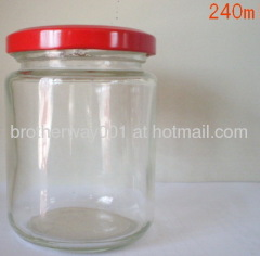 240ml glass jars of jam