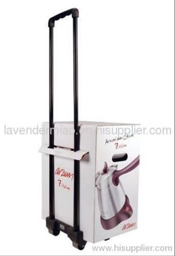 New design paper trolley, cardboard paper trolley