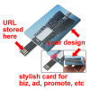 Credit card USB web key, wallet usb webkey, for business marketing, advertising, name card