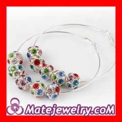 Colorful Basketball Wives Hoop Earrings