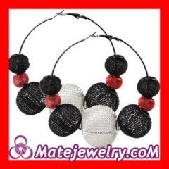 Mesh hoop earrings for sale