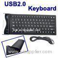 84 Key Waterproof Washable USB Flexible Silicone Keyboard