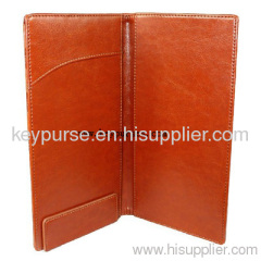 Brown Leather Menu Bill For Hotel