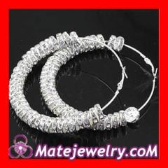 basketball wives Crystal hoop earrings
