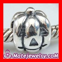 european sterling silver pumpkin charm