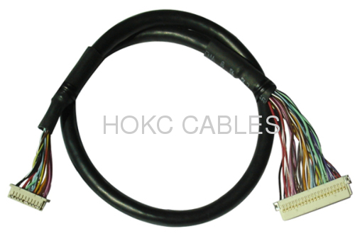 Lvds  Wire Harness Cable Assembly For Panel Connectors