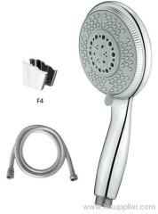Adjustable 120mm high pressure shower head with shower hose