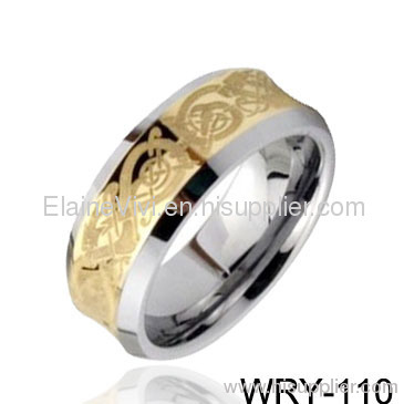 New Rings 18K Gold PlatedCeltic Laser T ungsten Rings wedding rings women 39s
