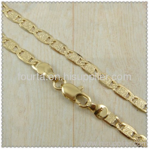 18 karat gold plated necklace from China manufacturer Yi wu Future