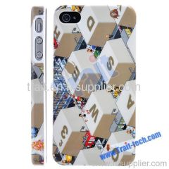 Characters Pattern Hard Case for iPhone 4 4S