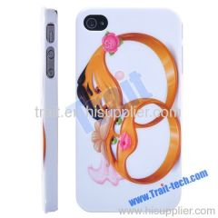 Two Rings Pattern Hard Case for iPhone 4/ iPhone 4S