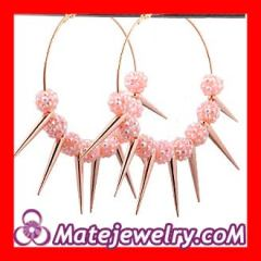 Plastic crystal basketball wives earrings