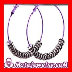 Purple basketball wives poparazzi earrings