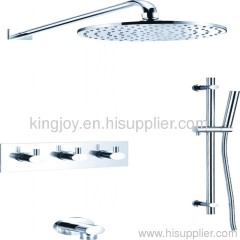 Wall thermostatic concealed shower mixer