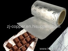 aluminum paper ; wrapping chocolate