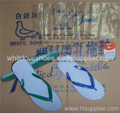 white dove brand plastic light sandals