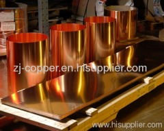 sheeny copper ; copper sheet